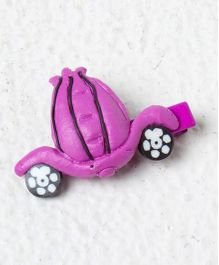 Kidcetra Car Shaped Hair Clip - Dark Pink