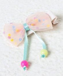 Kidcetra Polka Dot Bow Hair Clip - Light Pink