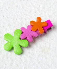 Kidcetra Multiflower Hair Clip - Dark Pink