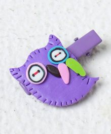 Kidcetra Owl Shaped Hair Clip - Purple
