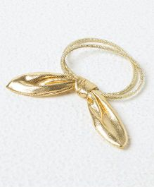 Kidcetra Golden Ponytail Bands With A Hairtie - Golden