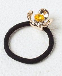 Kidcetra Metal Flower Ponytail Band - Yellow