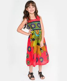 Yo Baby Geometric Dress - Red & Green