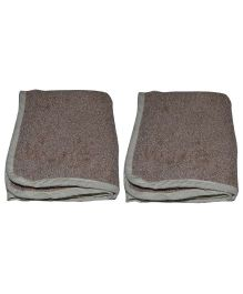 Mom's Home Organic Super Soft Baby Wash Towels Beige - Pack of 2