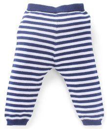 Simply Leggings Stripes Print - Blue And White