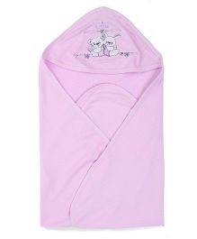 Simply Little Embroidered Hooded Bath Towel - Light Purple