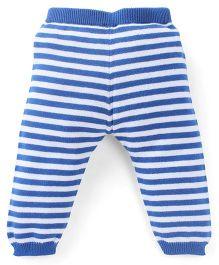 Simply Leggings Stripes Print - Light Blue And White