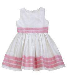 Teeny Tantrums Sleeveless Party Dress - White