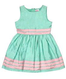 Teeny Tantrums Sleeveless Party Dress - Aqua Green