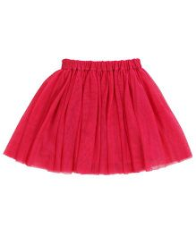 Teeny Tantrums Layered Mesh Skirt - Red