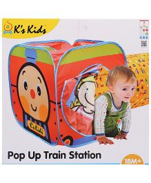 K's Kids Pop Up Train Station Play House - Multicolor