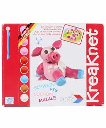 Simba Kneaknet Schwein Pig Modelling Clay Kit - Multicolor