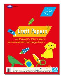 Youva Craft Paper Sheets - 50 Sheets