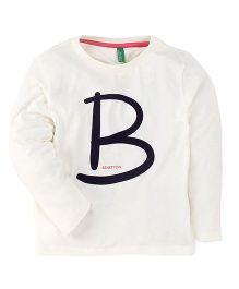 UCB Full Sleeves T-Shirt Alphabet Print - Off White