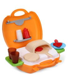 Sunny Pizza Kitchen Set Orange - 22 Pieces