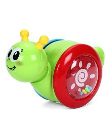 Sunny Slided Snail Toy With Rattle Sound - Green