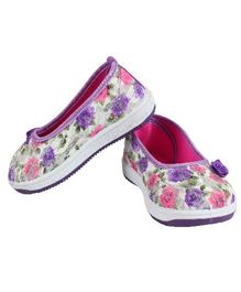 Fuel Belly Shoes Flower Motif - Pink