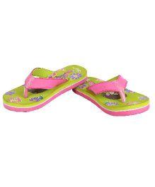 Myau Flip Flops - Green Pink