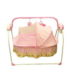 Kiwi Electronic Cradle With Mosquito Net - Pink