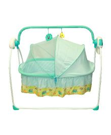 Kiwi Electronic Cradle With Mosquito Net - Green