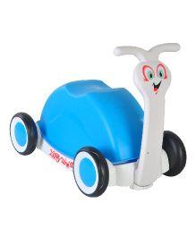 Magic Pitara Funny Little Snail Push Car Cum Walker - Blue