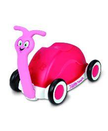 Magic Pitara Funny Little Snail Push Car Cum Walker - Pink