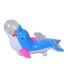 Magic Pitara Dolphin With Crystal Ball - Blue