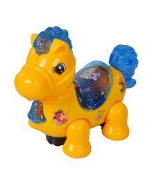Magic Pitara Dancing Horse With Light And Music - Yellow