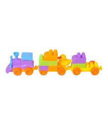 Magic Pitara Pull Line Train Building Blocks - 74 Pieces
