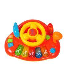 Magic Pitara Learning Steering Wheel Musical Toy - Red