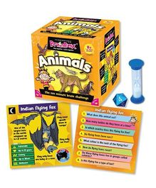 Green Board BrainBox Animals Game - Multi Color