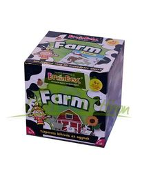 Green Board BrainBox On the Farm Game - Multi Color