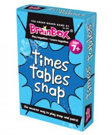 Green Board Times Tables Snap - Multi Color