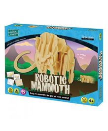 Green Board Robotic Mammoth Wooden Puzzle Set - 87 Pieces