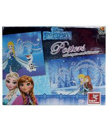 Toy Kraft Disney Frozen Posters With Sequin And Shimmer - Multicolor