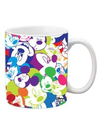 Orka Mickey Faces Digital Printed Coffee Mug Multicolor - 325 ml