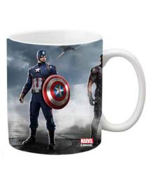 Orka Captain America Digital Printed Coffee Mug Multicolor - 325 ml
