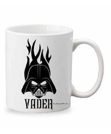 Orka Darth Vader Digital Printed Coffee Mug Black White - 325 ml