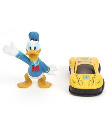 Disney Donald Duck Figurine With Metal Car Play Set (Color May Vary)