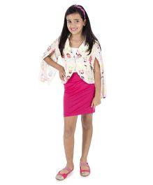 Silverthread Smart Jacket In Babushka Doll Print - Beige