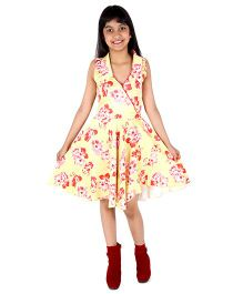 Silverthread Dress With Fusing - Yellow & Red