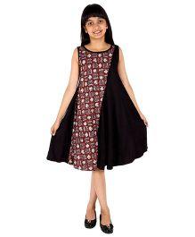 Silverthread Dress With Panel - Black