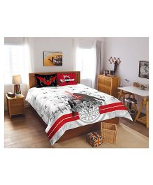Spaces Star Wars Double Bedsheet With 2 Pillow Covers - Grey