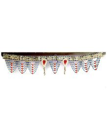 Dell's Decorations Zari Work Bandarwar With Pearl Hanging - Multicolour