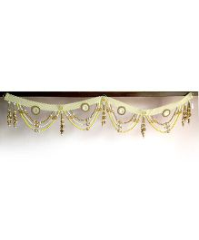 Dell's Decorations Pearl Border Bandarwal With Beads Hanging - Multicolour