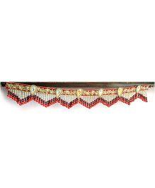Dell's Decorations Zari & Buti Work Beads Attached Bandarwar - Multicolour