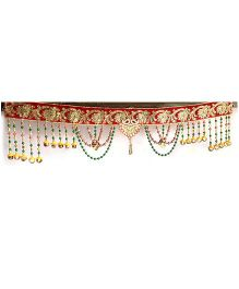 Dell's Decorations Traditional Work Bandarwar With Beads Hanging - Multicolour