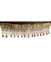 Dell's Decorations Zari Work Bandarwar With Pearl Hanging - Multicolour