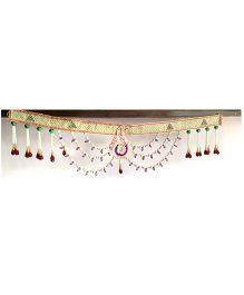 Dell's Decorations Pearl Border Bandarwar With Beads Hanging - Multicolour
