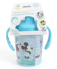 Disney International Two Handle Non Spill Sipper Cup Mickey And Minnie Print Blue - 280 ml